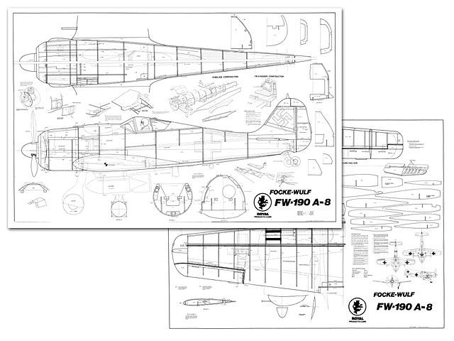 чертежи подробные большой авиамодели fw 190