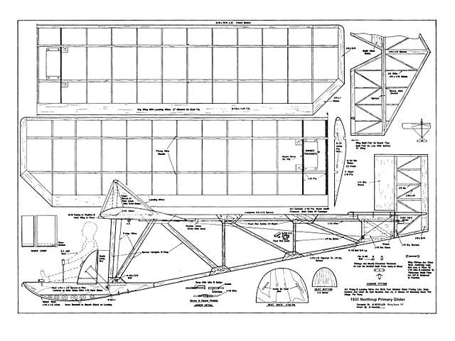 Northrup Primary Glider - plan thumbnail image