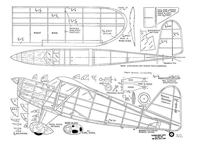 Rearwin Speedster - plan thumbnail image