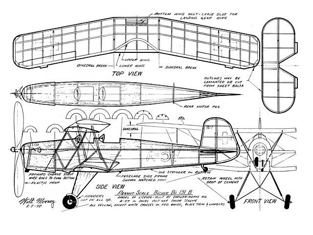 Bucker Bu-131B Jungmann - plan thumbnail image
