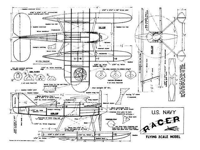 US Navy Racer - plan thumbnail image