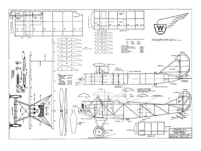 Fokker D7 (oz4040) from Wings Model Co 1934