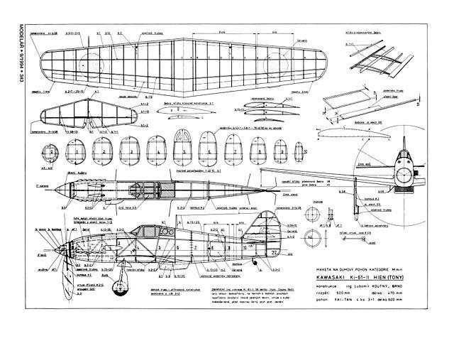 Kawasaki ki-61 Hien (oz4069) by Lubomir Koutny from Modelar