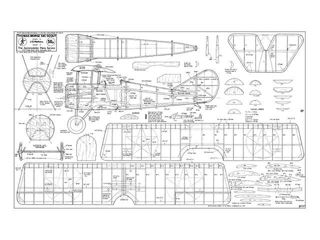 Thomas Morse S4C Scout plan - Free download - Outerzone
