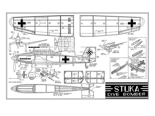 Stuka Dive Bomber (oz4091) from Burd Model Airplane 1940