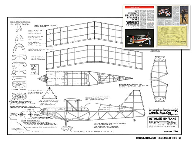 Ultimate Biplane plan - Free download - Outerzone