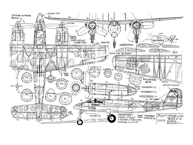 Focke Wulf Ta 154 A4 (oz4205) by Pres Bruning 1993