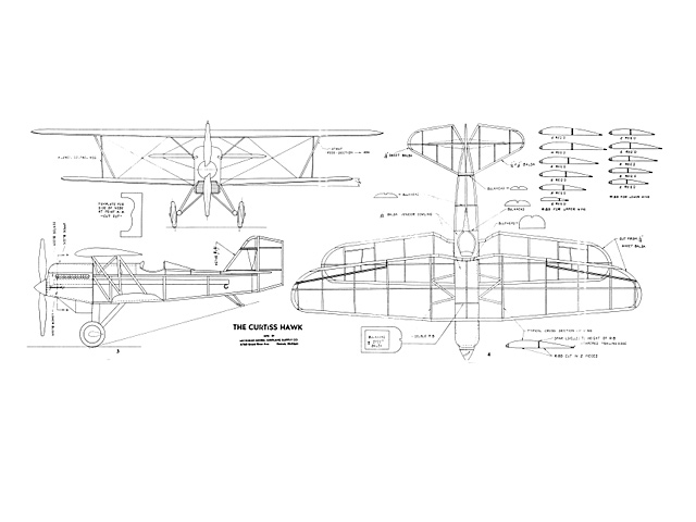 Curtiss Hawk (oz4219) from Michigan Model Airplane