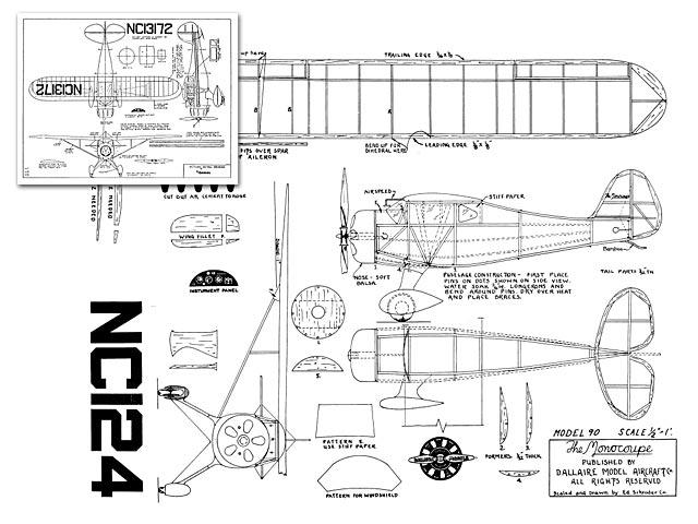 Monocoupe (oz4239) from Dallaire Models