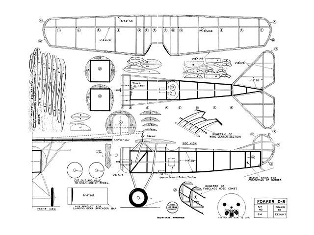 Fokker D8 - plan thumbnail image