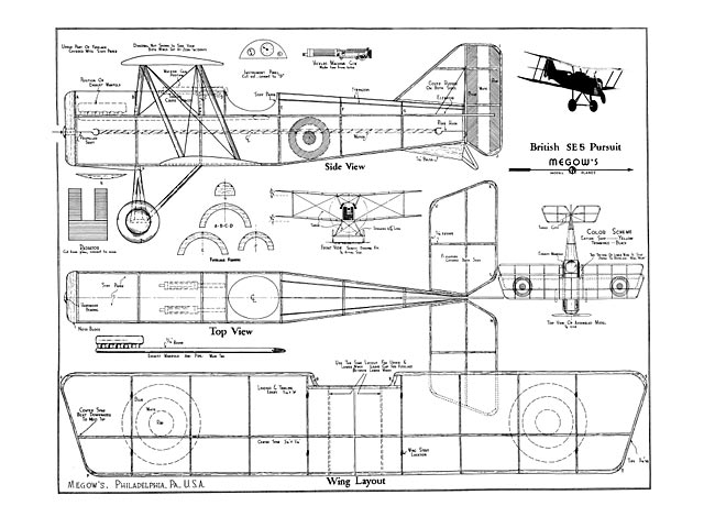 British SE5 Pursuit - plan thumbnail image