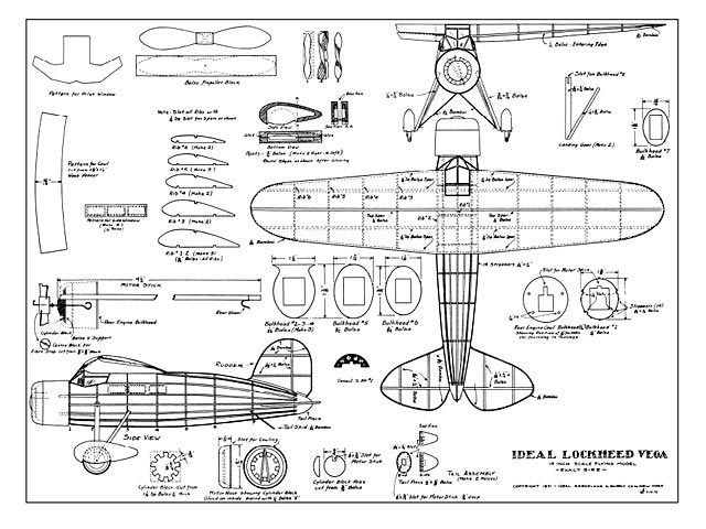 Lockheed Vega (oz445) from Ideal 1931