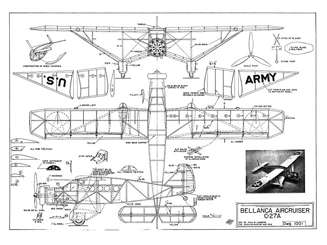 Bellanca C-27A Aircruiser - plan thumbnail image