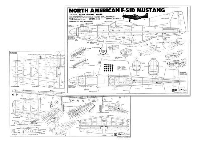 North American F-51D Mustang - plan thumbnail image
