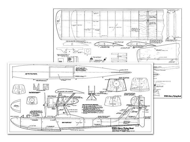 1920s Navy Flying Boat - Suspended Plan - Outerzone