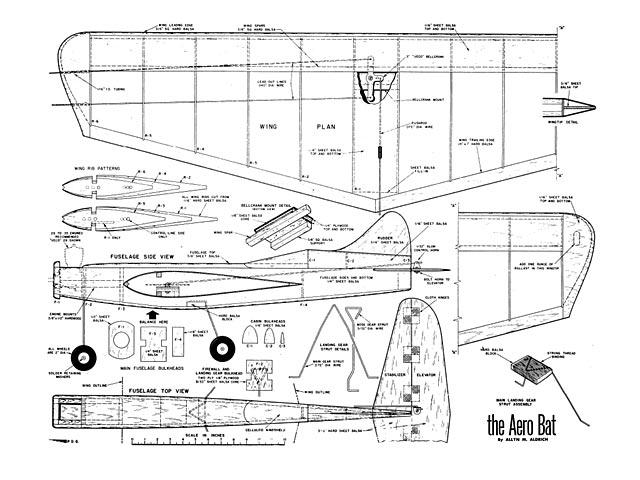 Aero Bat (oz4679) by Allyn M Aldrich from Model Airplane News 1956