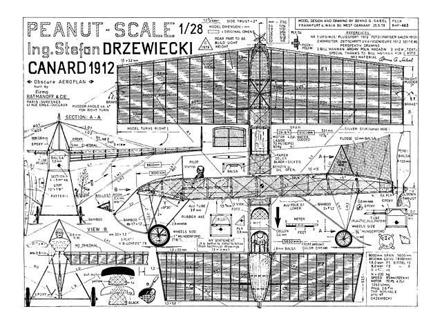 Canard 1912 (oz4691) by Benno G Sabel 1978
