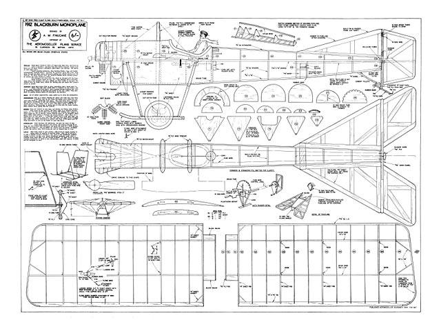 1912 Blackburn Monoplane - plan thumbnail image