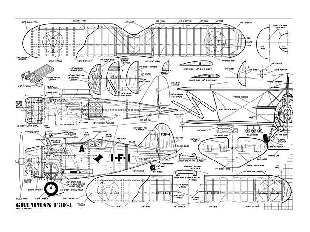 Grumman F3F-1 - plan thumbnail image