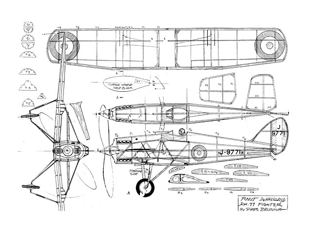De Havilland DH.77 (oz4980) by Pres Bruning