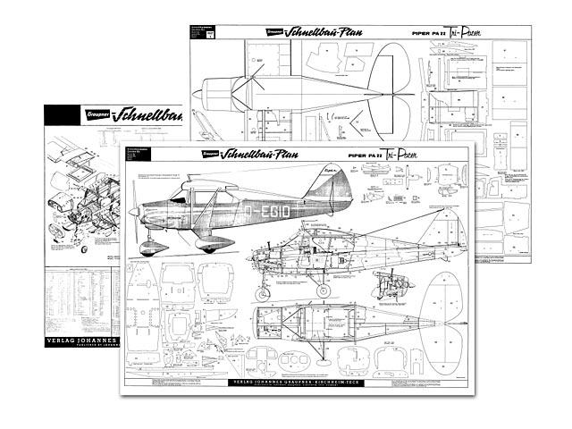 Oz : Piper PA-22 Tri-Pacer plan - free download