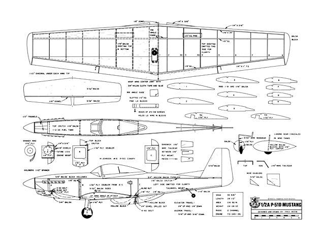1/2A P-51D Mustang - plan thumbnail image