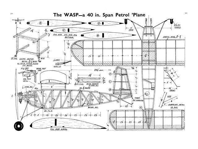 Wasp - LS Wigdor - Aeromodeller - April 1938 - 40in