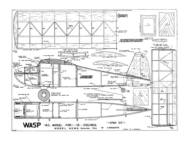 Wasp (oz5309) by John Marquette from Model News 1964