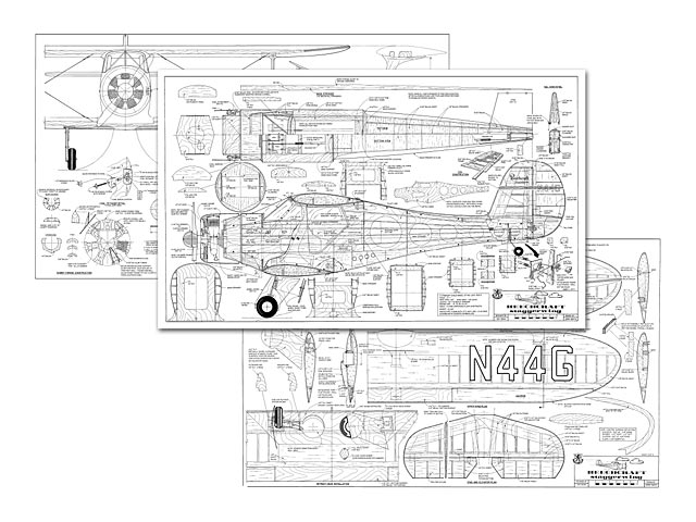 Beechcraft Staggerwing - plan thumbnail image