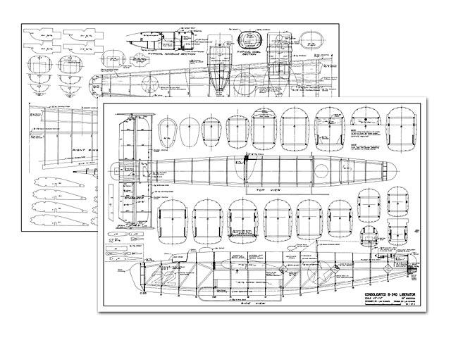 Consolidated B-24D Liberator - plan thumbnail image