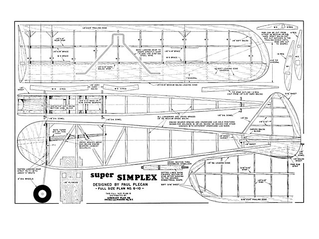 Super Simplex (oz5364) by Paul Plecan from Aircraft Plan Co 1948
