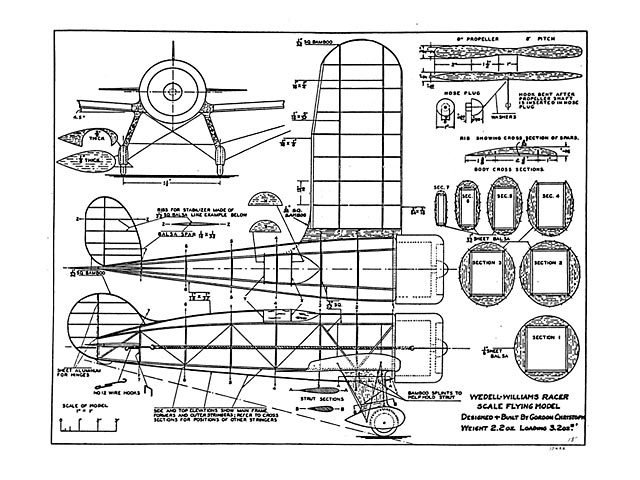 Wedell Williams Racer (oz5388) by Gordon Christoph from Aero Digest 1932