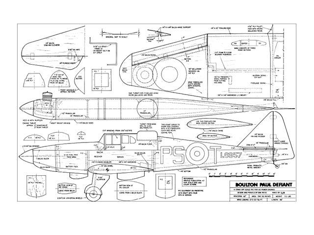 Boulton Paul Defiant - plan thumbnail image