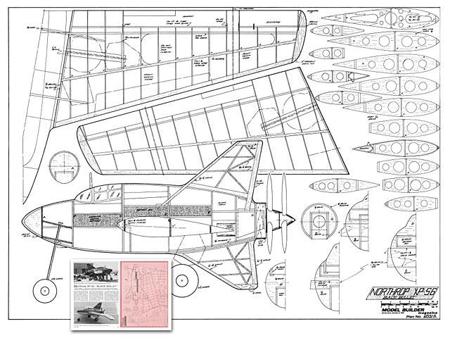 northrop xp-56 plan - free download