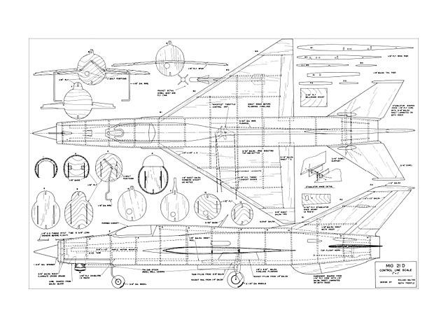 MiG-21D plan - Free download - Outerzone
