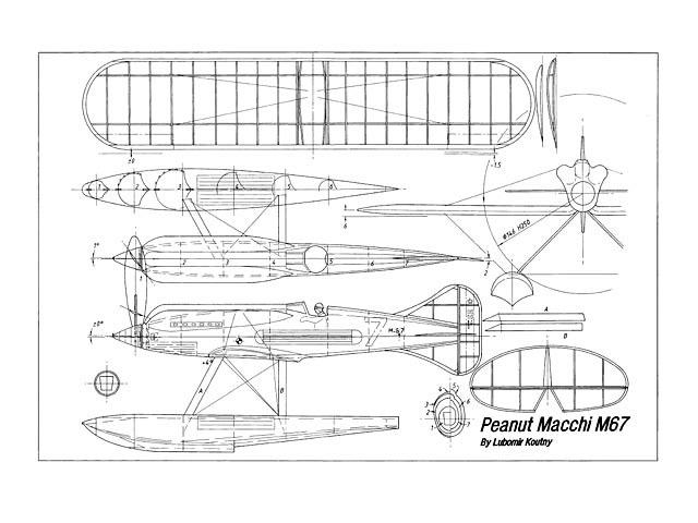 Macchi M.67 (oz5513) by Lubomir Koutny from Aeromodeller 1997