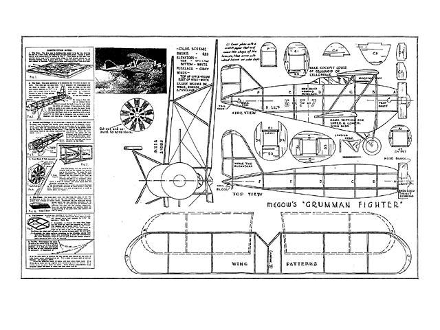 Grumman FF Fighter (oz5607) from Megow 1935