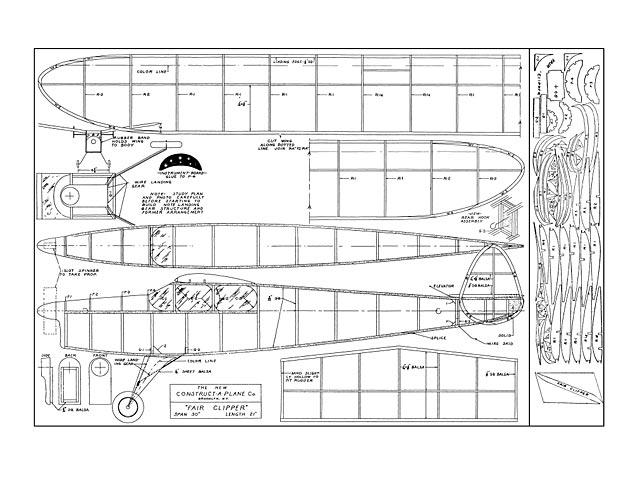 Fair Clipper (oz5619) from Construct-A-Plane 1939