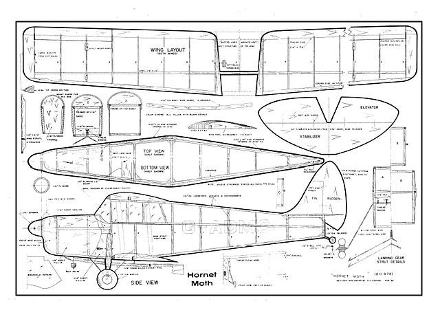 Hornet Moth (oz562) by Hurst Bowers 1958