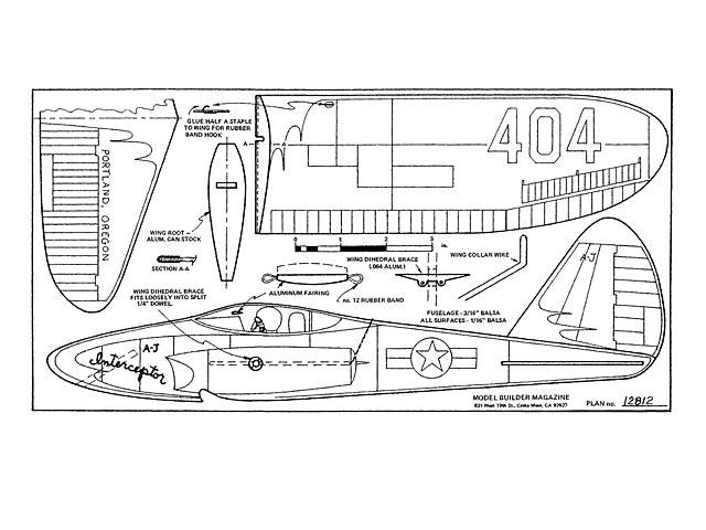 A-J Interceptor 404 (oz5651) by Dave Thornburg from Model Builder 1981