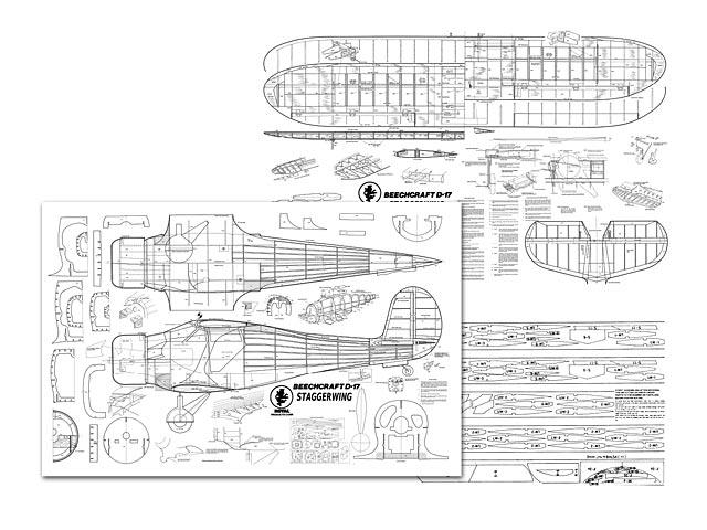 Beechcraft D-17 Staggerwing - plan thumbnail image