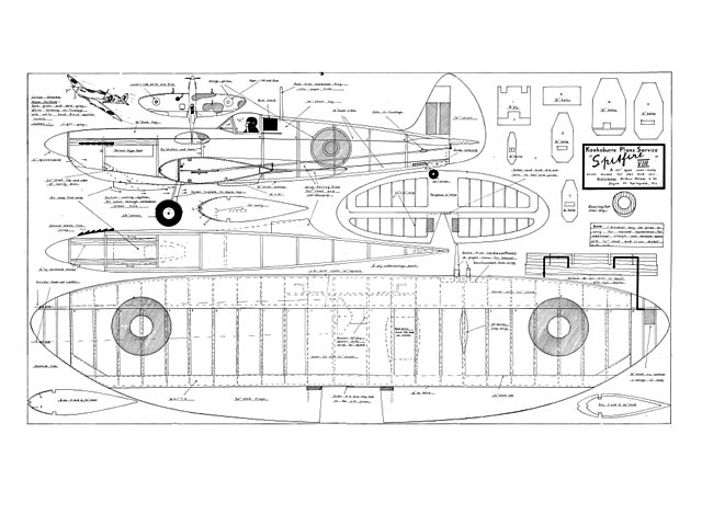 Spitfire VIII (oz5822) by Geoff Pentland from Kookaburra 1958