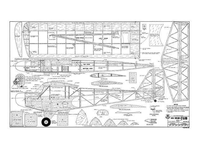 1935 Taylor Cub E-2 - plan thumbnail image