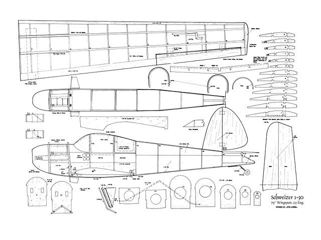 Schweizer 1-30 (oz5829) by Vern Zundel from Flying Models 1971