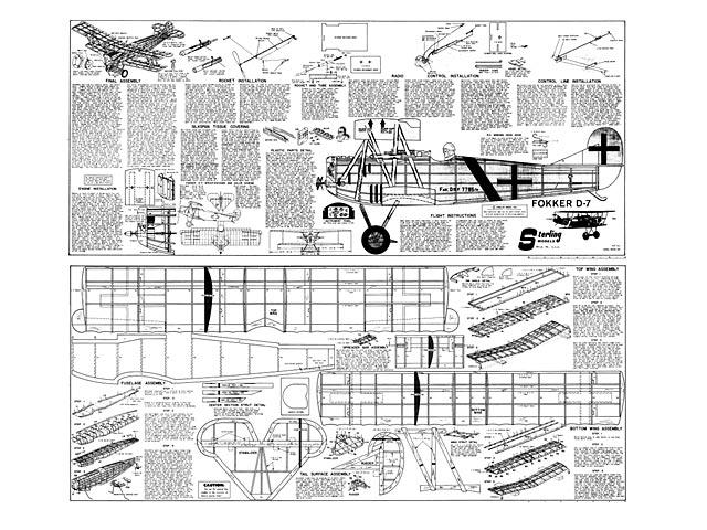 Fokker D7 - plan thumbnail image