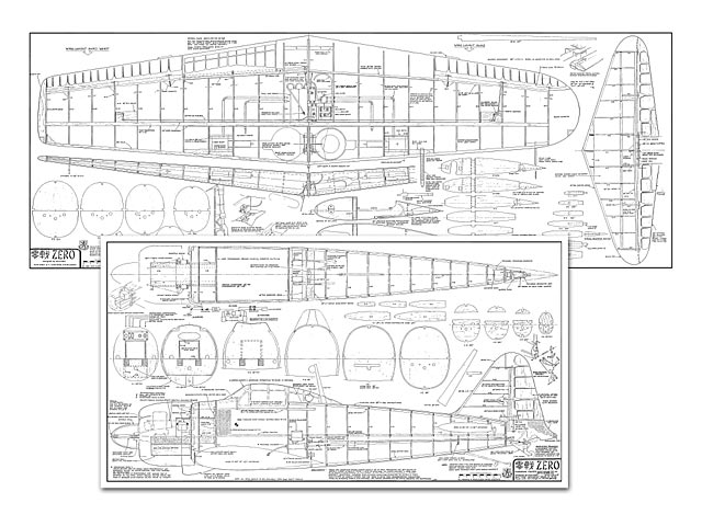 mitsubishi a6m zero plan - free download