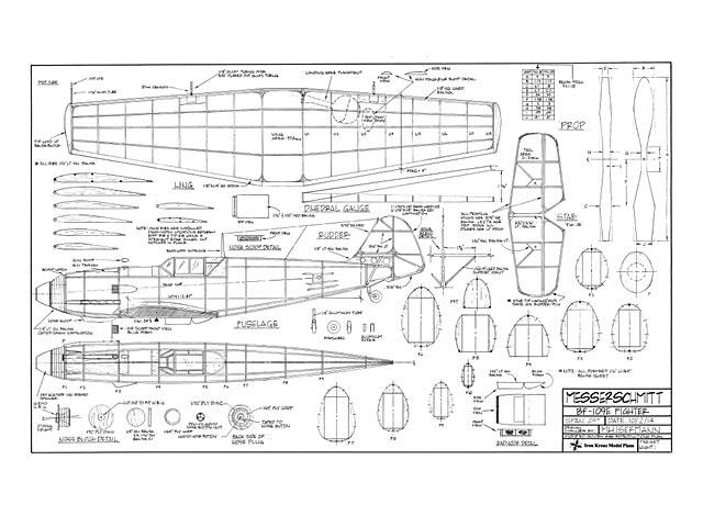Messerschmitt bf-109E (oz6114) by MN Isermann from Iron Kreuz Model Plans 2014