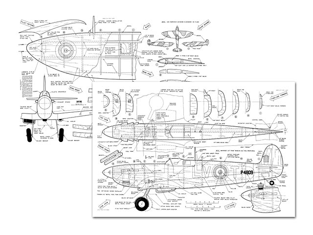 Spitfire (oz6169) by Walt Musciano from American Modeler 1959