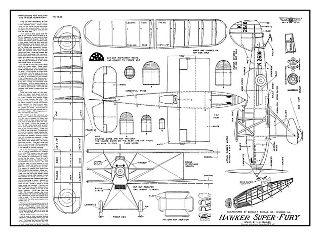Hawker Super Fury (oz622) by L. H. Deubler from Donald F. Duncan