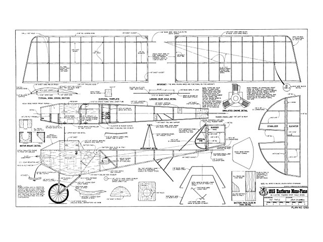 Eastbourne Monoplane 1913 Plan - Free Download